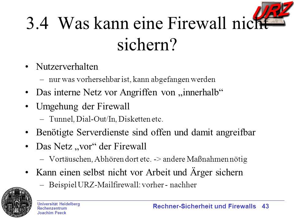 3.4 Was kann eine Firewall nicht sichern