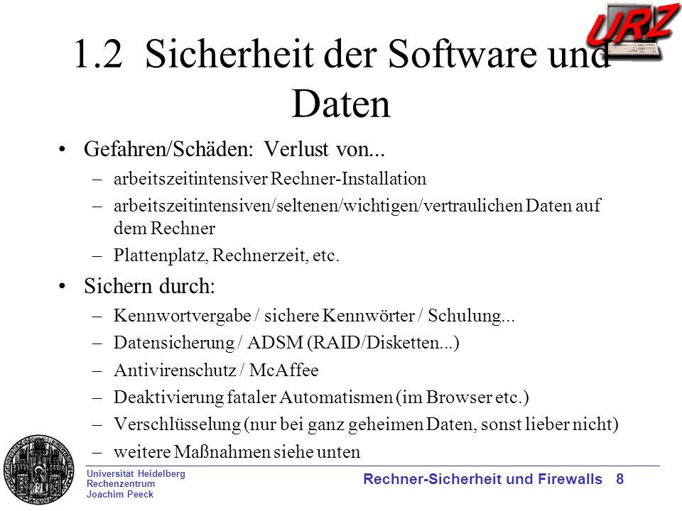 1.2 Sicherheit der Software und Daten
