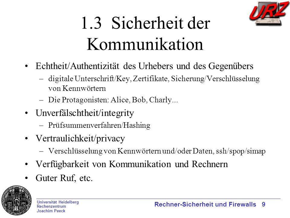 1.3 Sicherheit der Kommunikation