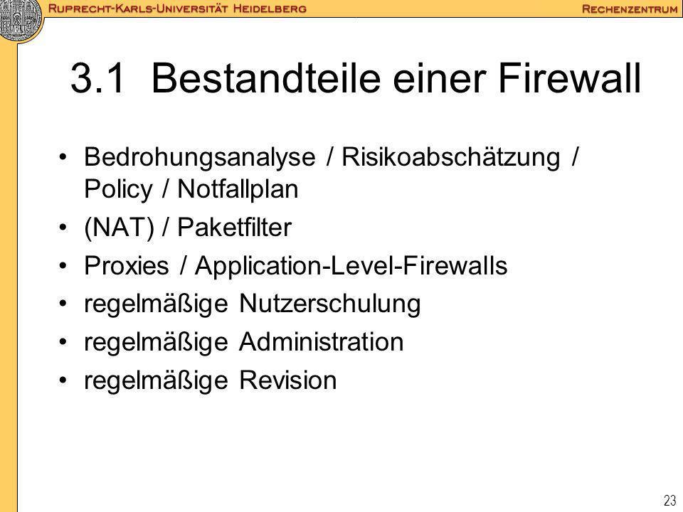 3.1 Bestandteile einer Firewall
