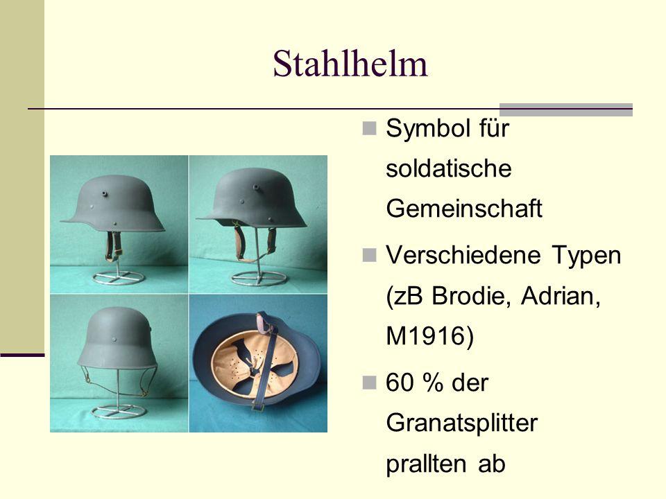 Stahlhelm Symbol für soldatische Gemeinschaft