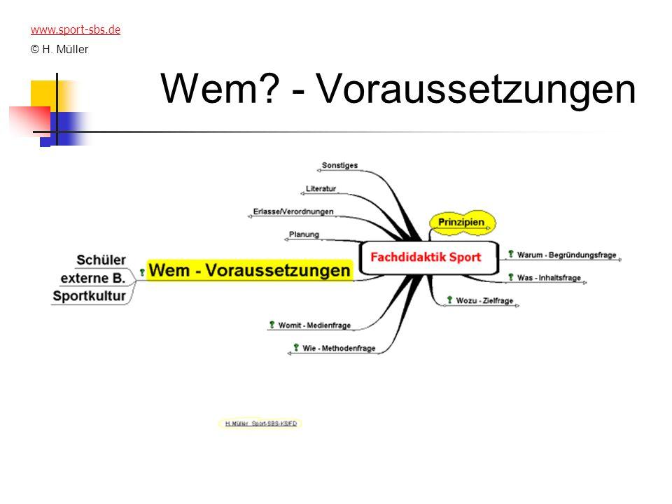 www.sport-sbs.de © H. Müller Wem - Voraussetzungen