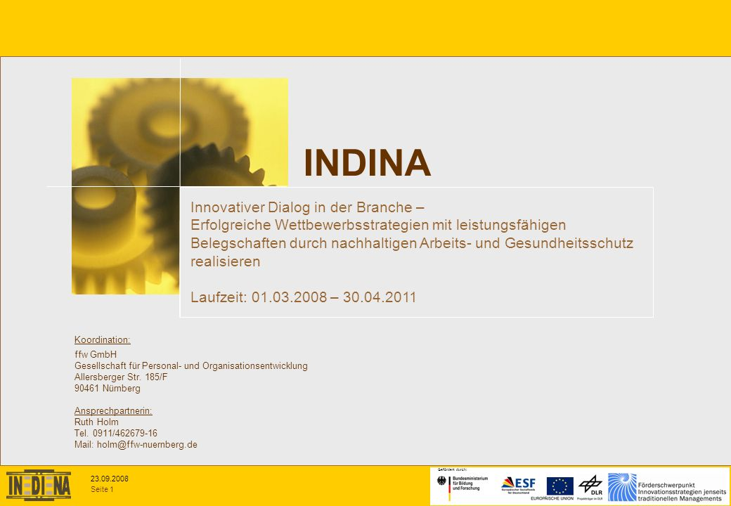 INDINA Innovativer Dialog in der Branche –