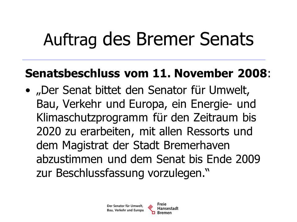 Auftrag des Bremer Senats