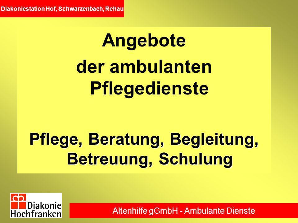 Angebote der ambulanten Pflegedienste