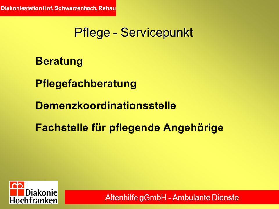 Pflege - Servicepunkt Beratung Pflegefachberatung