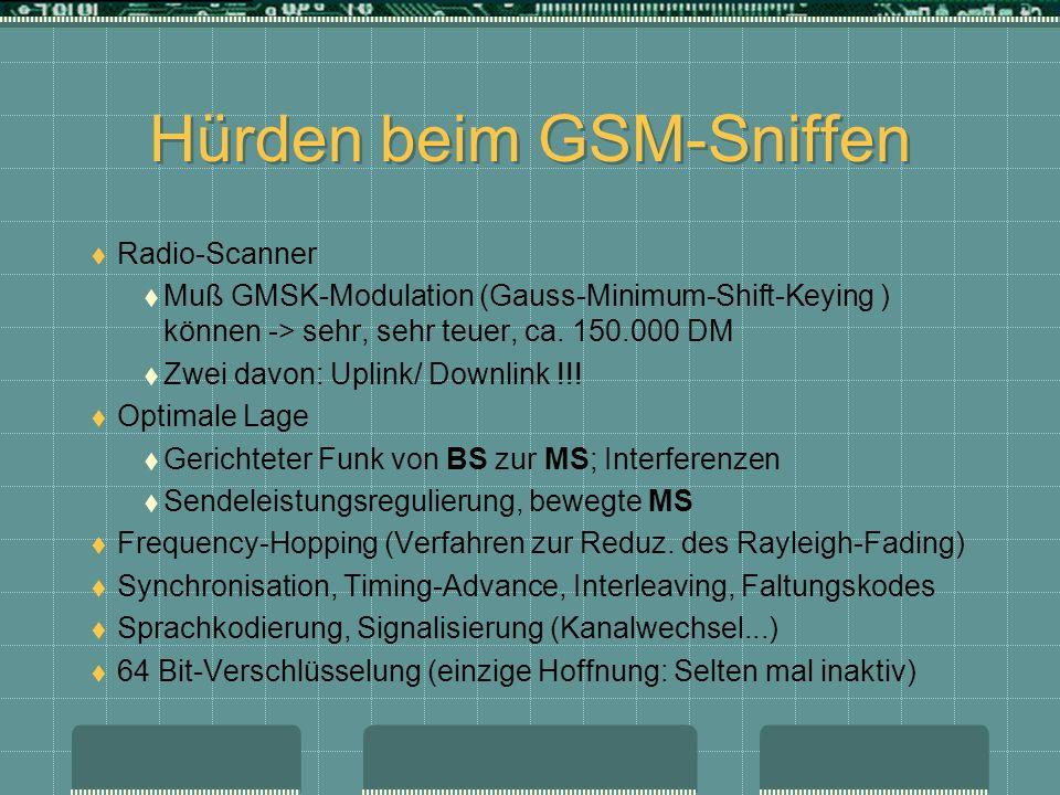 Hürden beim GSM-Sniffen