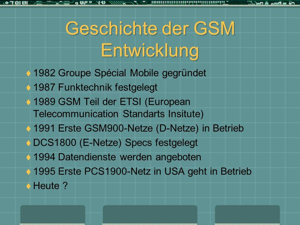 Geschichte der GSM Entwicklung