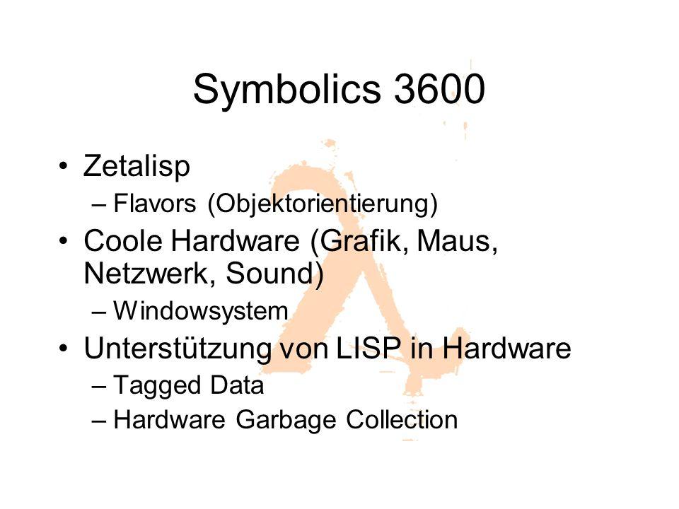 Symbolics 3600 Zetalisp Coole Hardware (Grafik, Maus, Netzwerk, Sound)