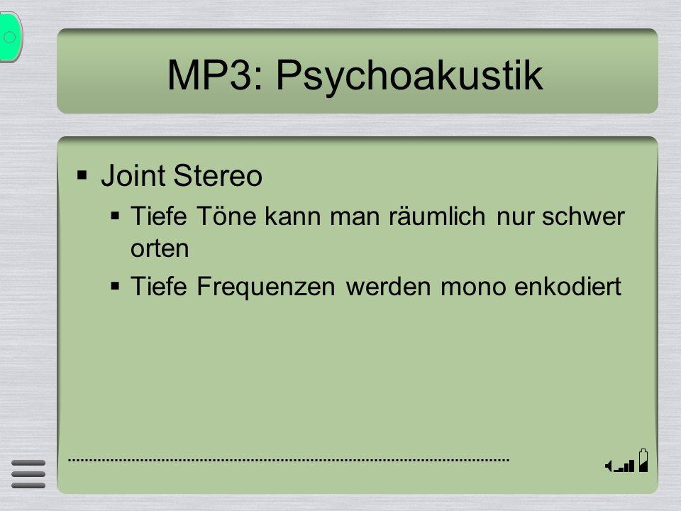 MP3: Psychoakustik Joint Stereo