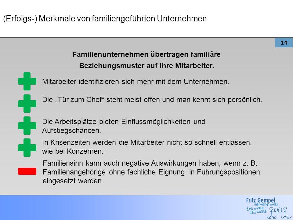 (Erfolgs-) Merkmale von familiengeführten Unternehmen