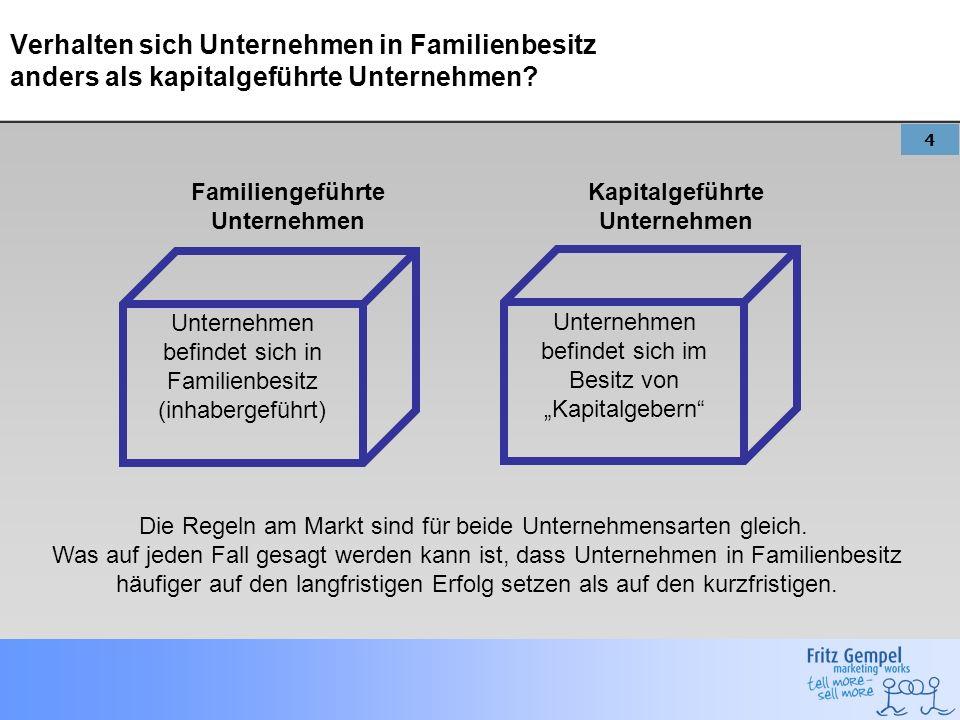 Familiengeführte Unternehmen Kapitalgeführte Unternehmen