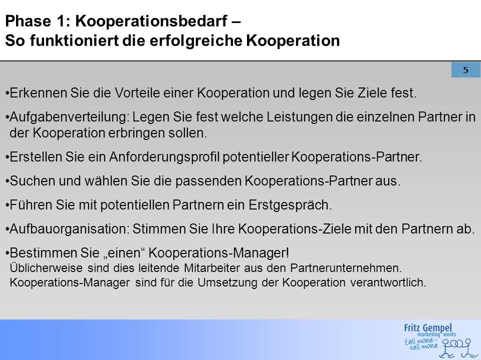 Phase 1: Kooperationsbedarf – So funktioniert die erfolgreiche Kooperation