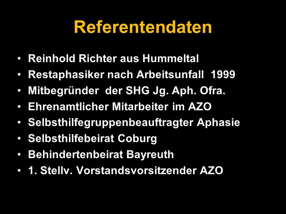 Referentendaten Reinhold Richter aus Hummeltal