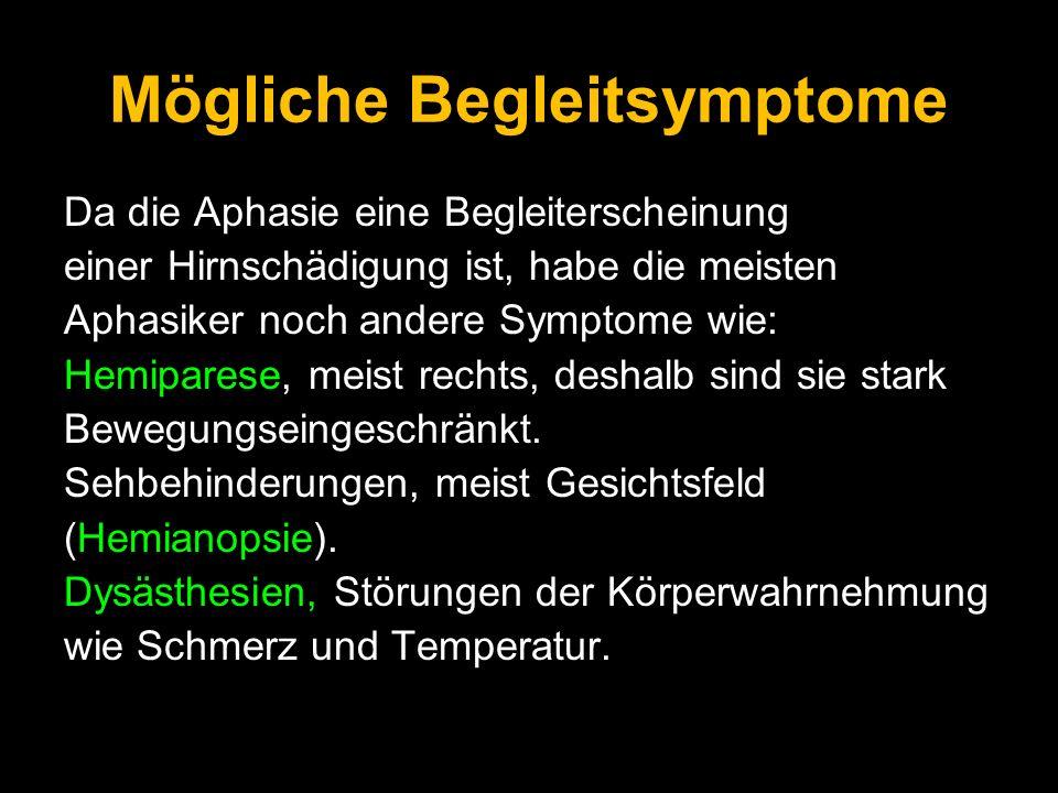 Mögliche Begleitsymptome