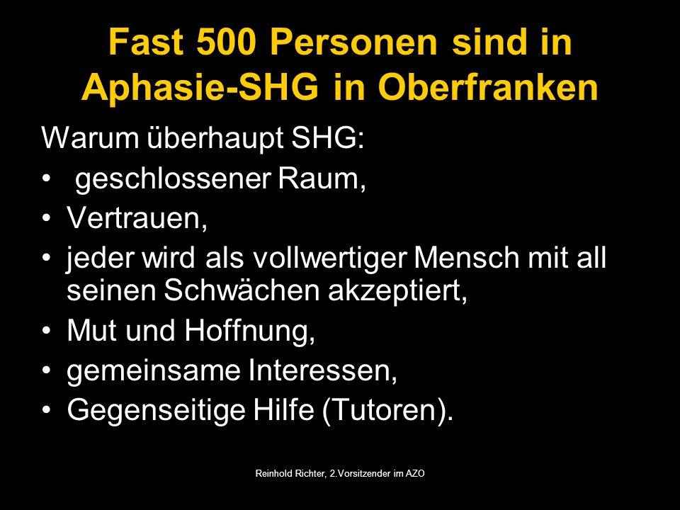 Fast 500 Personen sind in Aphasie-SHG in Oberfranken