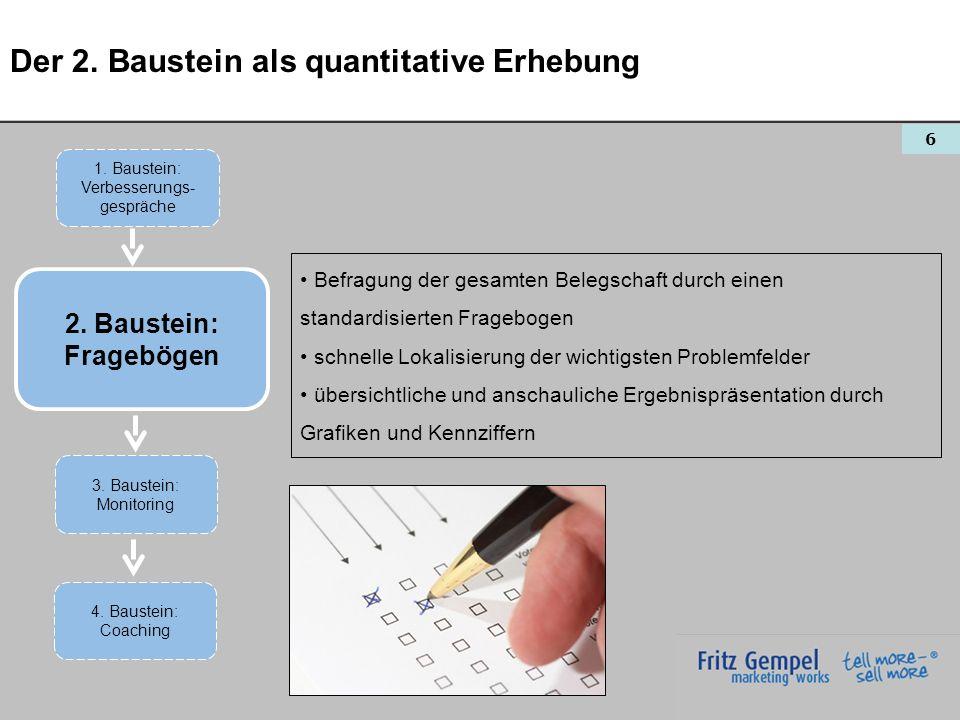 Der 2. Baustein als quantitative Erhebung