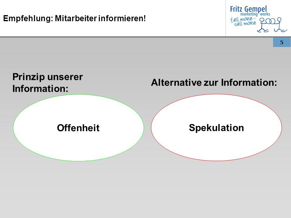 Empfehlung: Mitarbeiter informieren!