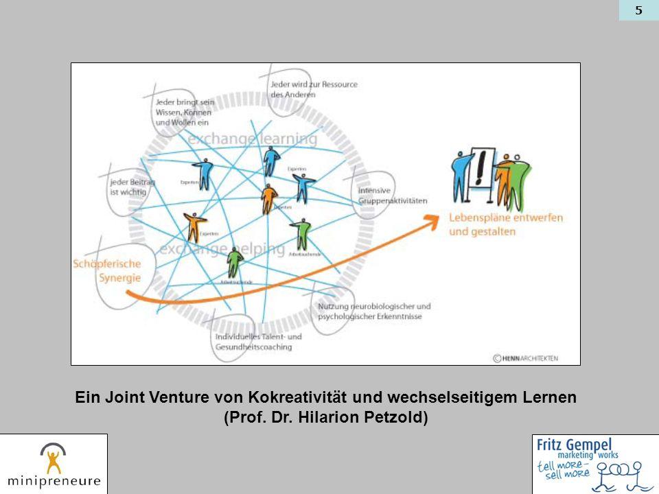 Ein Joint Venture von Kokreativität und wechselseitigem Lernen
