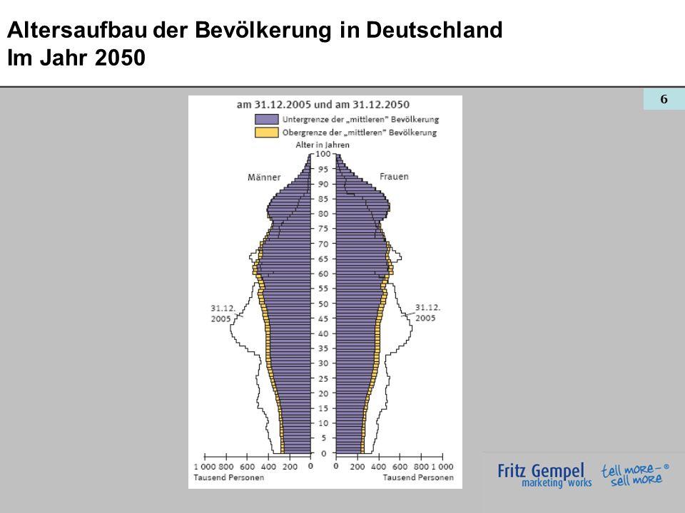 Altersaufbau der Bevölkerung in Deutschland Im Jahr 2050