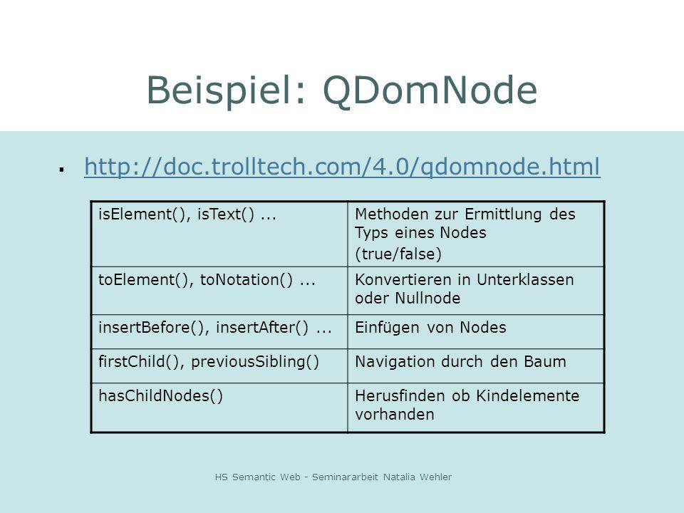 HS Semantic Web - Seminararbeit Natalia Wehler