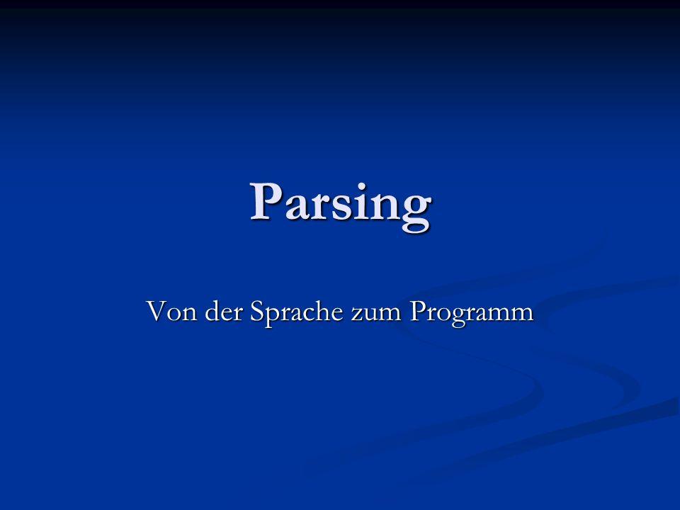 Von der Sprache zum Programm