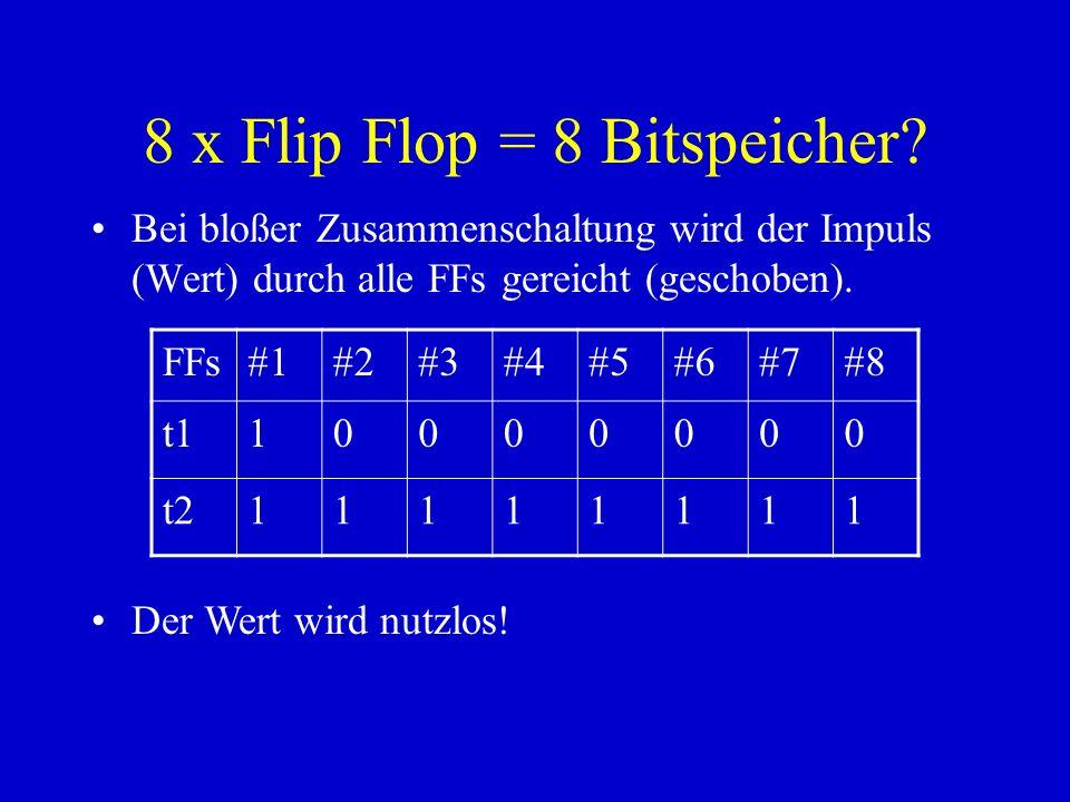 8 x Flip Flop = 8 Bitspeicher