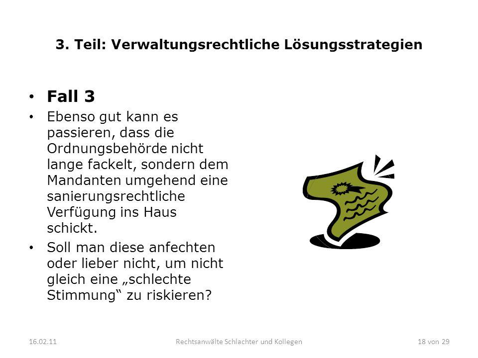 3. Teil: Verwaltungsrechtliche Lösungsstrategien