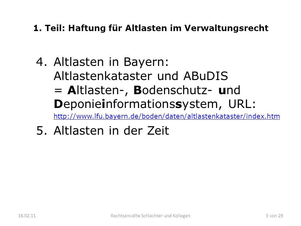 1. Teil: Haftung für Altlasten im Verwaltungsrecht