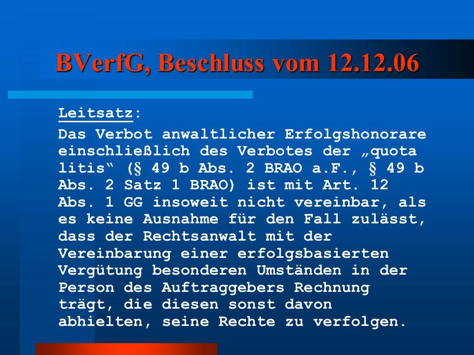 BVerfG, Beschluss vom 12.12.06 Leitsatz: