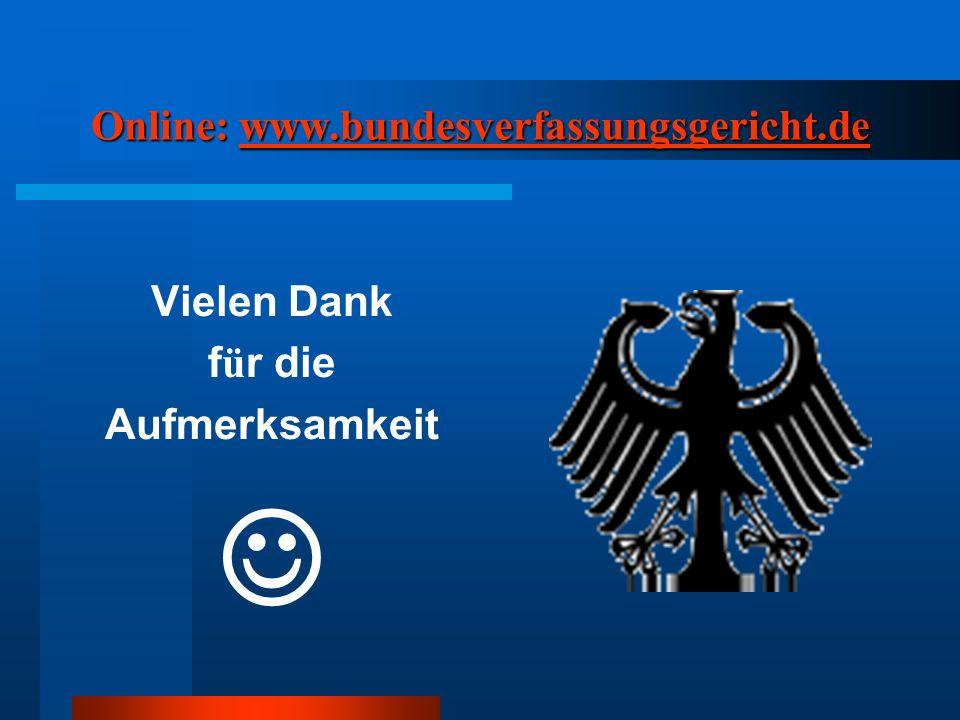 Online: www.bundesverfassungsgericht.de