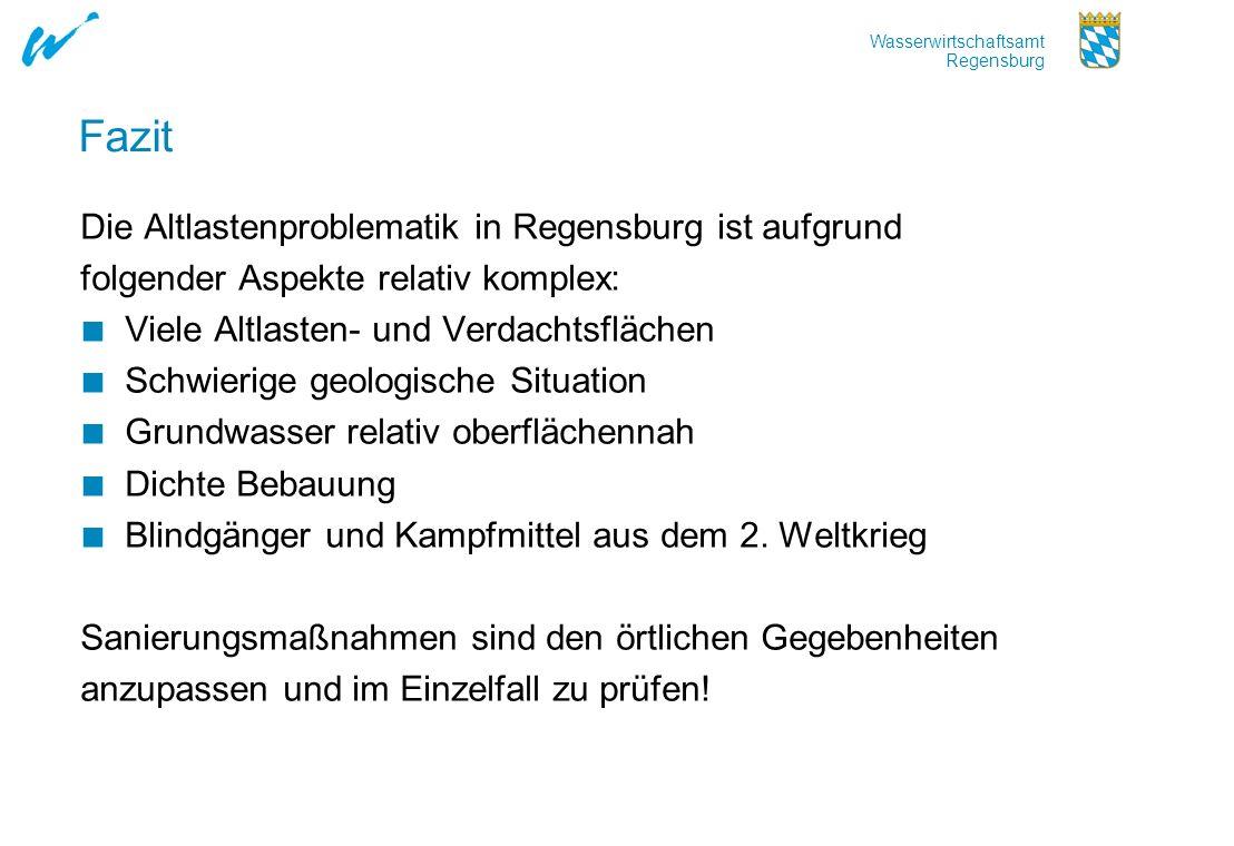 Fazit Die Altlastenproblematik in Regensburg ist aufgrund