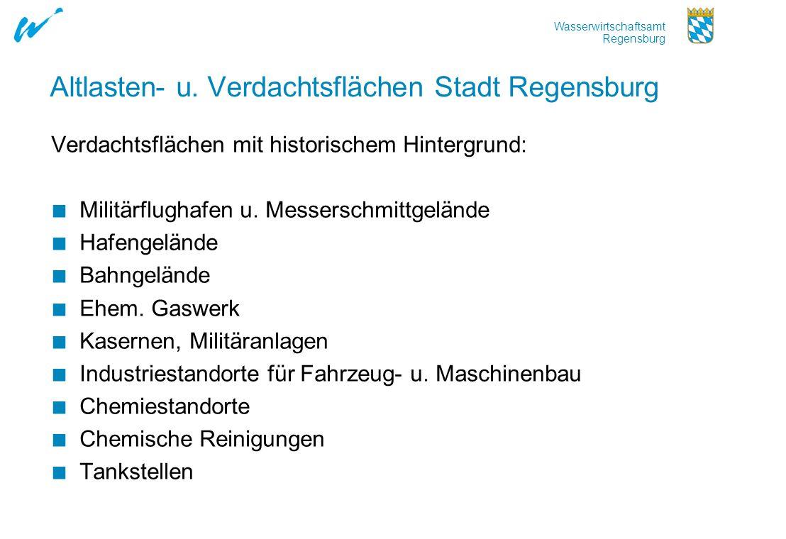 Altlasten- u. Verdachtsflächen Stadt Regensburg