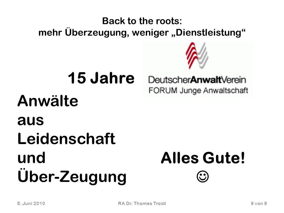 """Back to the roots: mehr Überzeugung, weniger """"Dienstleistung"""