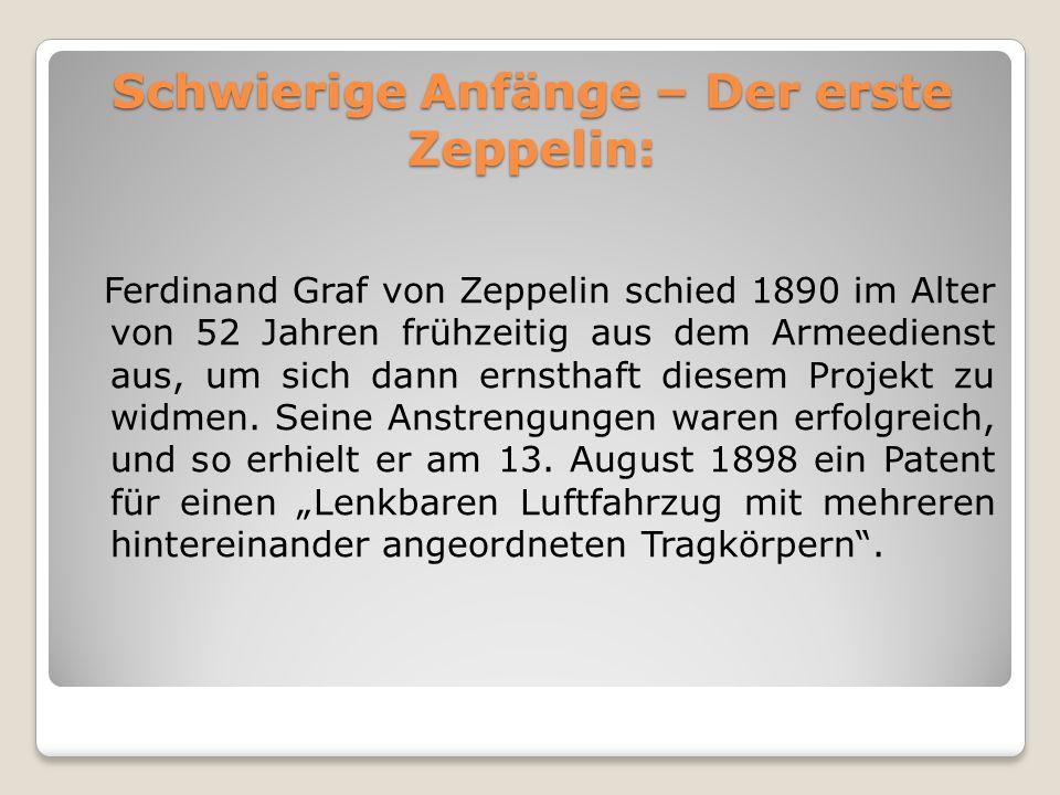 Schwierige Anfänge – Der erste Zeppelin: