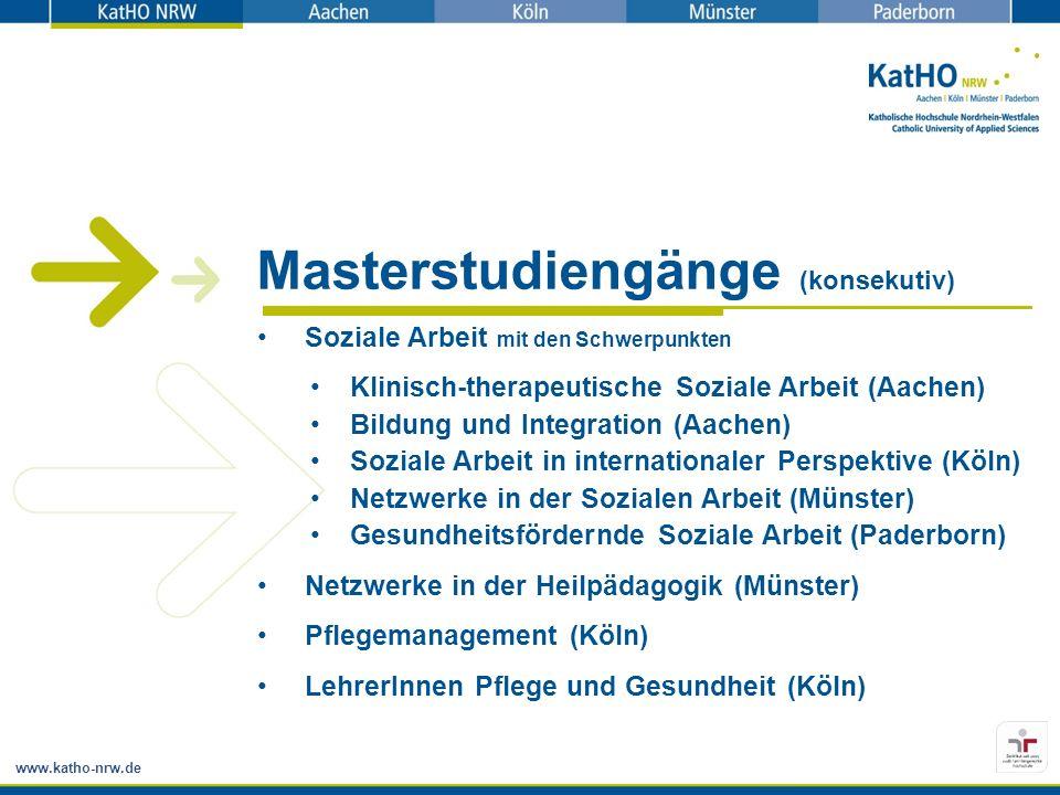Masterstudiengänge (konsekutiv)