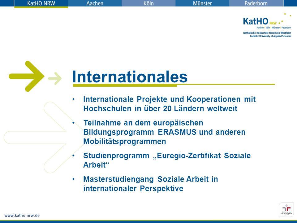 Internationales Internationale Projekte und Kooperationen mit Hochschulen in über 20 Ländern weltweit.