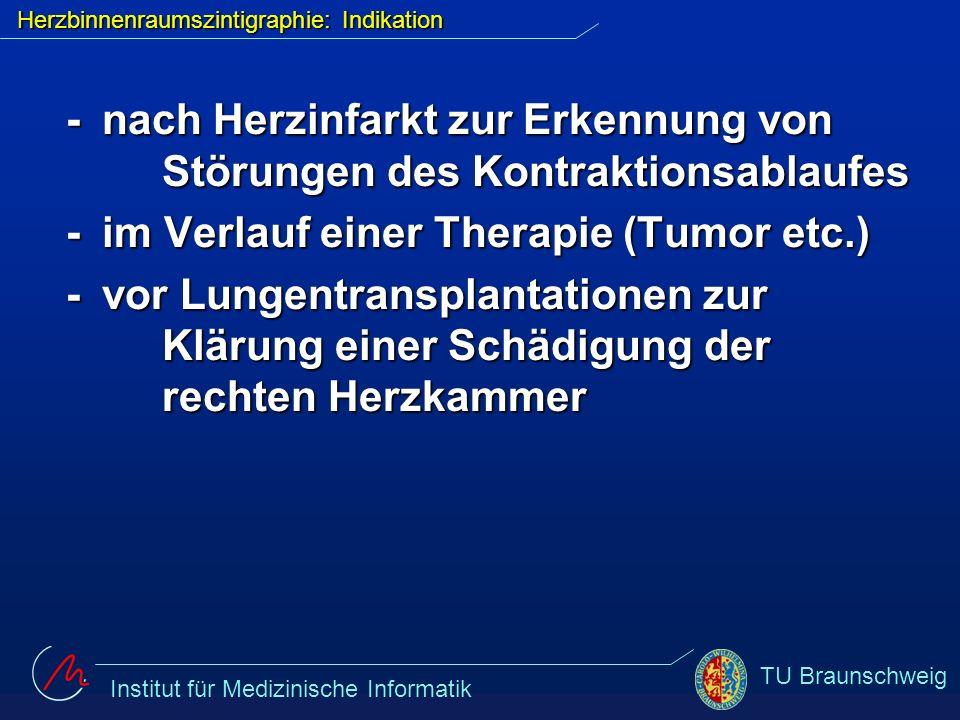 Herzbinnenraumszintigraphie: Indikation