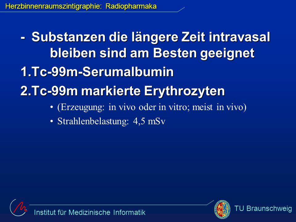 Herzbinnenraumszintigraphie: Radiopharmaka