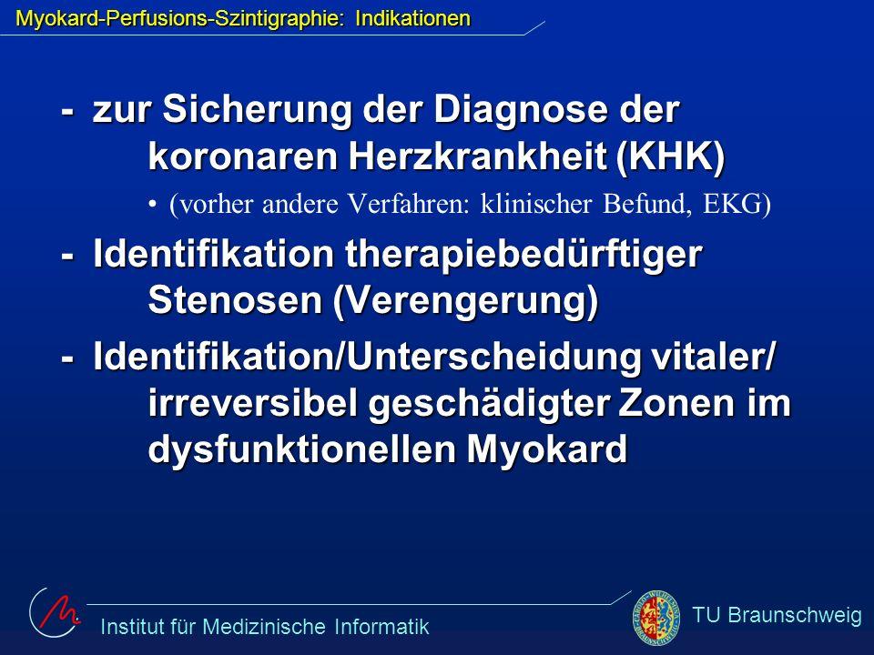 Myokard-Perfusions-Szintigraphie: Indikationen