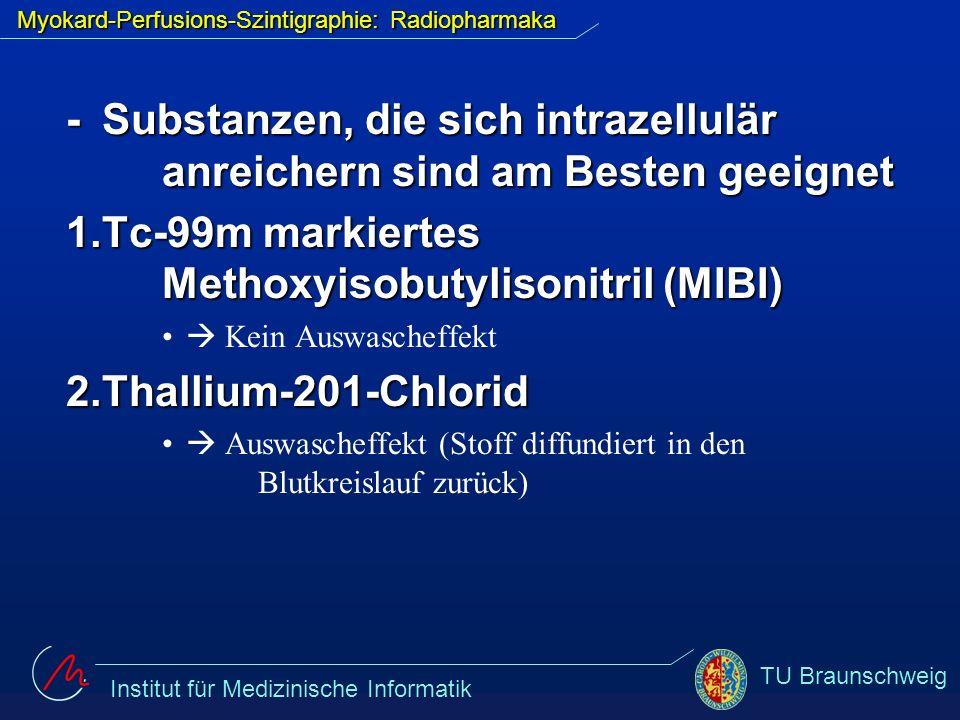 Myokard-Perfusions-Szintigraphie: Radiopharmaka