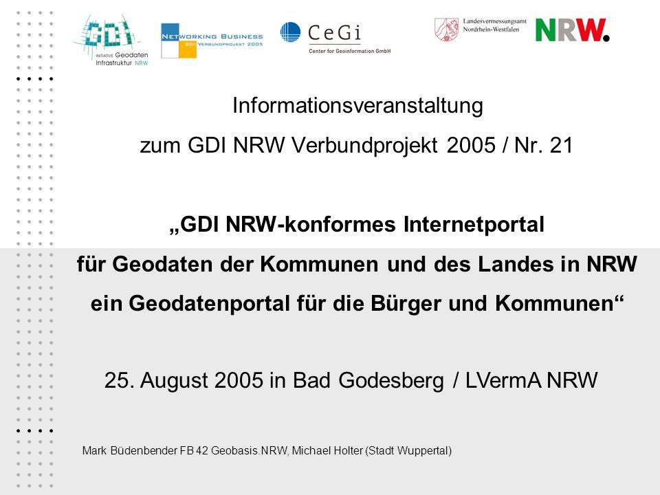 Informationsveranstaltung zum GDI NRW Verbundprojekt 2005 / Nr. 21