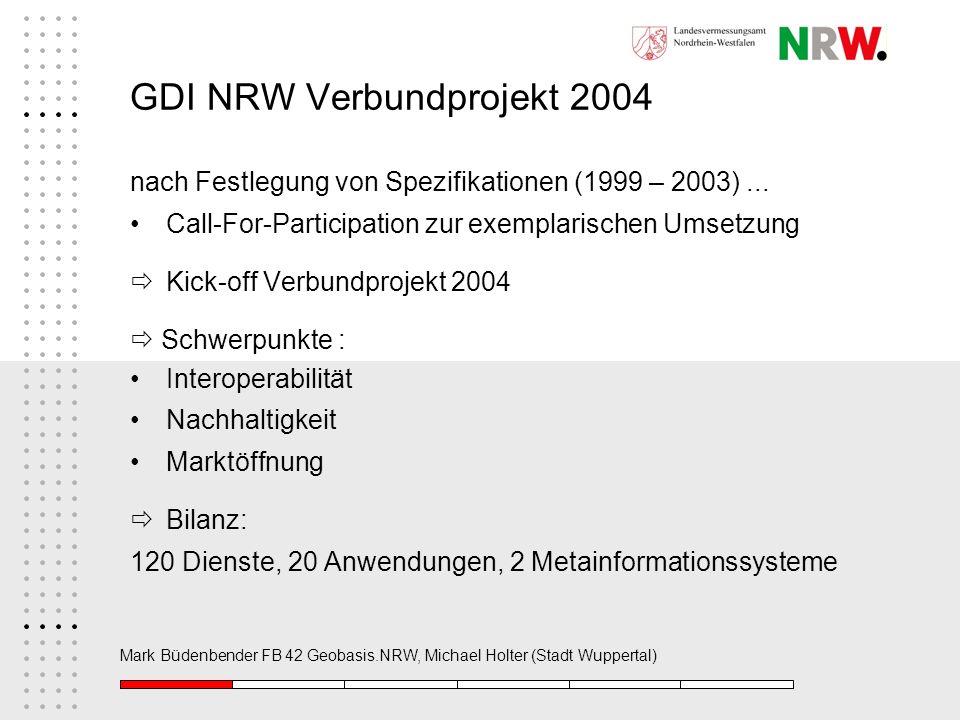 GDI NRW Verbundprojekt 2004
