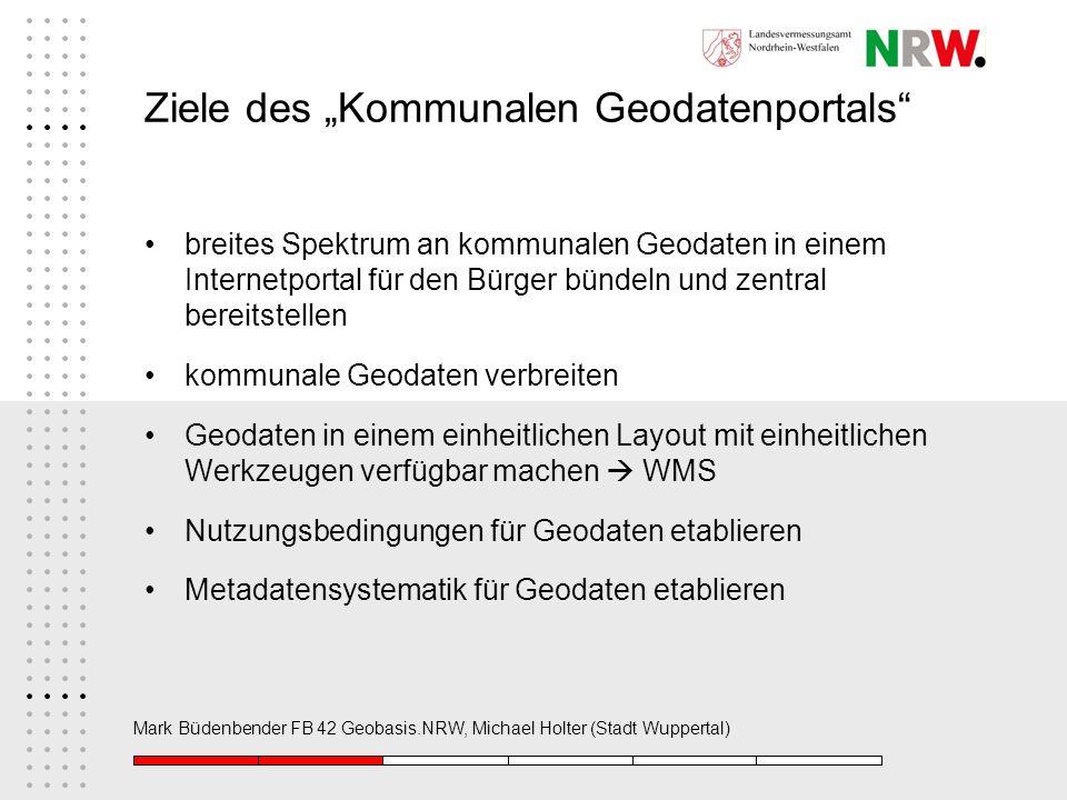 """Ziele des """"Kommunalen Geodatenportals"""