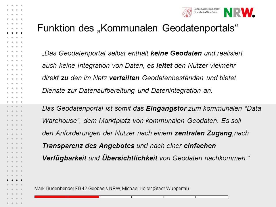 """Funktion des """"Kommunalen Geodatenportals"""