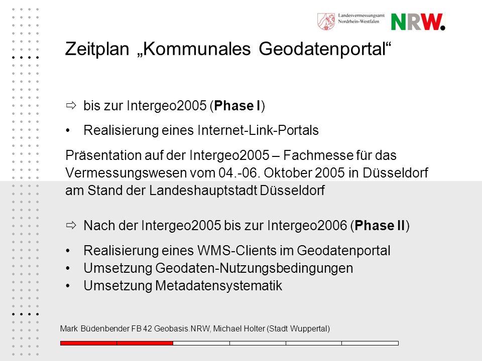 "Zeitplan ""Kommunales Geodatenportal"