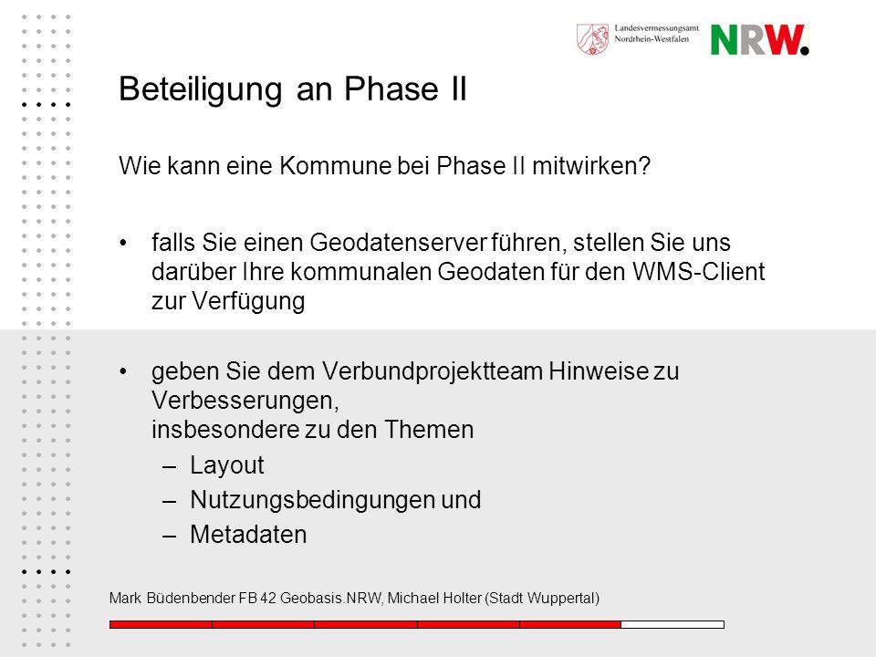 Beteiligung an Phase II