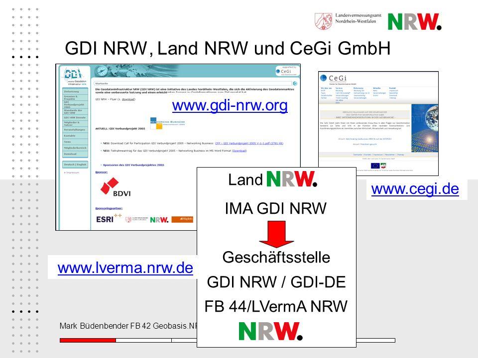GDI NRW, Land NRW und CeGi GmbH