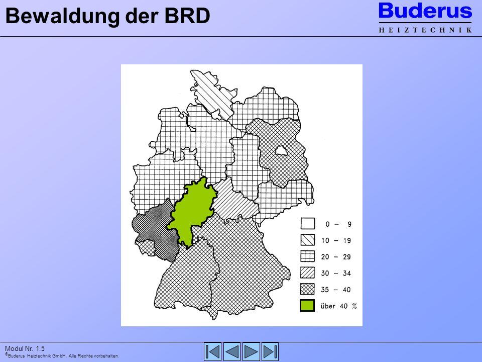 Bewaldung der BRD - Einschätzung waldreichstes Bundesland