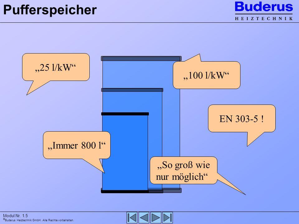 """Pufferspeicher """"25 l/kW """"100 l/kW EN 303-5 ! """"Immer 800 l"""